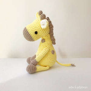 "AMIGURUMI PATTERN/ tutorial (English) Amigurumi Giraffe ""Suzy the Sweet Giraffe"" pdf - US terminology"