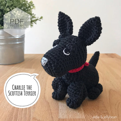 AMIGURUMI PATTERN/ tutorial (English) Amigurumi Scottish Terrier Dog -
