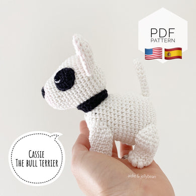 AMIGURUMI PATTERN/ tutorial (English / Español) Amigurumi Bull Terrier -