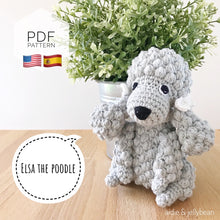 "Load image into Gallery viewer, AMIGURUMI PATTERN/ tutorial (English / Español) Amigurumi Poodle Dog - ""Elsa the Poodle Puppy"""