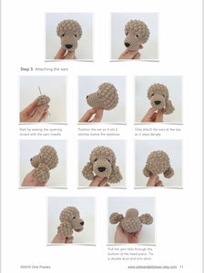"AMIGURUMI PATTERN/ tutorial (English / Español) Amigurumi Cockapoo Dog - ""Mabel the Cockapoo Puppy"""