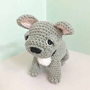 "AMIGURUMI PATTERN/ tutorial (English) Amigurumi French Bulldog - ""Louie the French Bulldog Puppy"" pdf - US terminology"