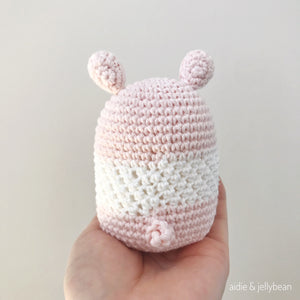 "AMIGURUMI PATTERN/ tutorial (English) Amigurumi Pig ""Egg Shaped Animals - The Happy Piggy Couple"" pdf - US terminology"