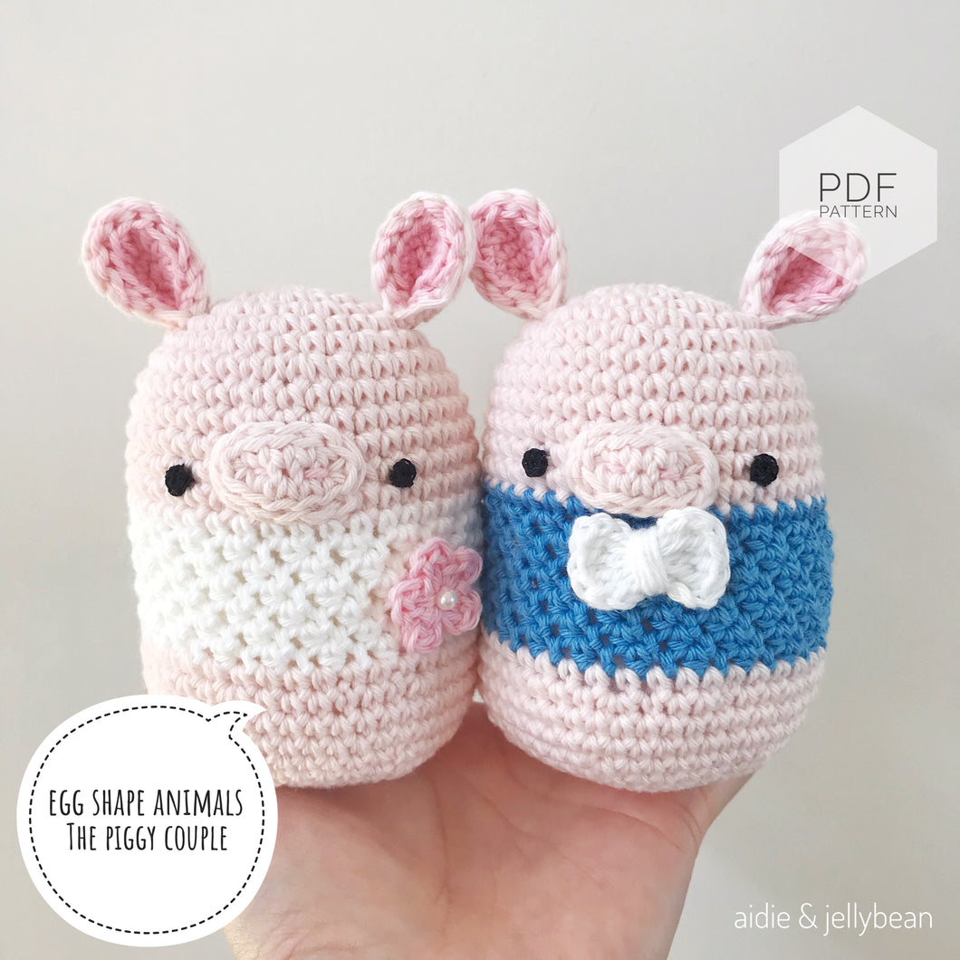 AMIGURUMI PATTERN/ tutorial (English) Amigurumi Pig