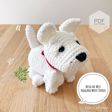 AMIGURUMI PATTERN/ tutorial (English) Amigurumi West Highland White Terrier -