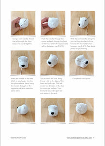 "AMIGURUMI PATTERN/ tutorial (English) Amigurumi West Highland White Terrier - ""Nessa the West Highland White Terrier"" pdf - US terminology"
