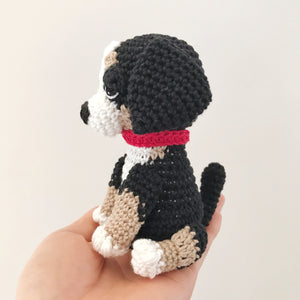 "AMIGURUMI PATTERN/ tutorial (English) Amigurumi Bernese Mountain Dog - ""Stella the Bernese Mountain Dog Puppy"" pdf - US terminology"