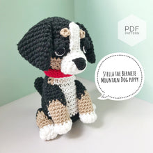 "Load image into Gallery viewer, AMIGURUMI PATTERN/ tutorial (English) Amigurumi Bernese Mountain Dog - ""Stella the Bernese Mountain Dog Puppy"" pdf - US terminology"