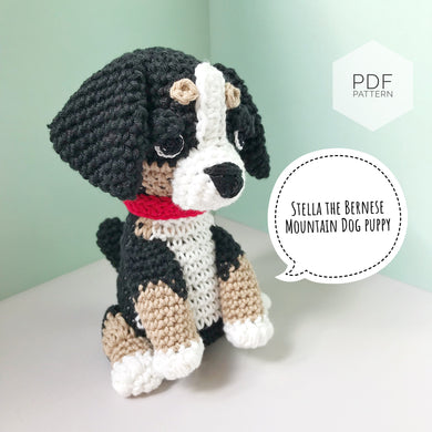 AMIGURUMI PATTERN/ tutorial (English) Amigurumi Bernese Mountain Dog -