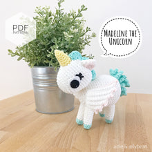"Load image into Gallery viewer, AMIGURUMI PATTERN/ tutorial (English) Amigurumi Unicorn - ""Madeline the Unicorn"" pdf - US terminology"