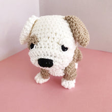 "Load image into Gallery viewer, AMIGURUMI PATTERN/ tutorial (English / Español) Amigurumi Bulldog - ""Bruno the Bulldog Puppy"""
