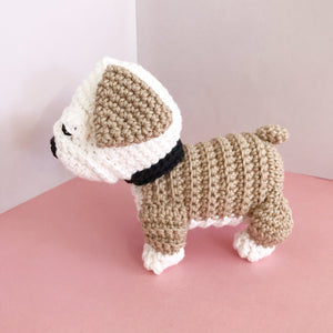 "AMIGURUMI PATTERN/ tutorial (English) Amigurumi Bulldog - ""Bruno the Bulldog Puppy"" pdf - US terminology"