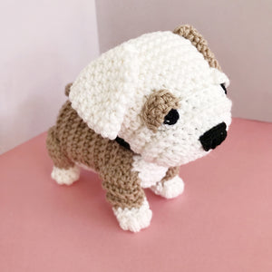 "AMIGURUMI PATTERN/ tutorial (English / Español) Amigurumi Bulldog - ""Bruno the Bulldog Puppy"""