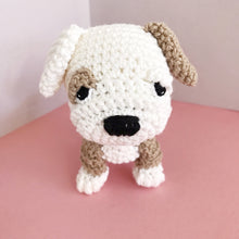 "Load image into Gallery viewer, AMIGURUMI PATTERN/ tutorial (English) Amigurumi Bulldog - ""Bruno the Bulldog Puppy"" pdf - US terminology"
