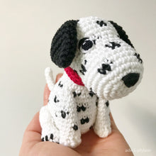 "Load image into Gallery viewer, AMIGURUMI PATTERN/ tutorial (English) Amigurumi Dalmatian Dog - ""Dusty the Dalmatian Puppy"" pdf - US terminology"