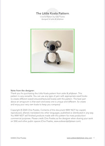 "AMIGURUMI PATTERN/ tutorial (English) Amigurumi koala - ""The Little Koala"" pdf - US terminology"