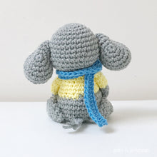 "Load image into Gallery viewer, AMIGURUMI PATTERN/ tutorial (English) Amigurumi Elephant - ""Lenny the Little Elephant"" pdf - US terminology"
