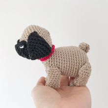 Load image into Gallery viewer, Made to Order PUG crochet amigurumi