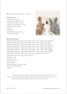 "AMIGURUMI PATTERN/ tutorial (English) Amigurumi Bunny - ""Easter Bunny Trio"" pdf - US terminology"