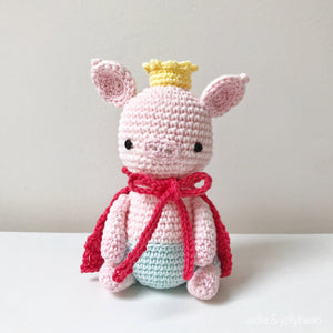 "AMIGURUMI PATTERN/ tutorial (English) Amigurumi Pig - ""The Pig Prince"" pdf - US terminology"