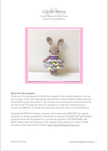 "AMIGURUMI PATTERN/ tutorial (English) Amigurumi Bunny - ""Lily the Bunny"" pdf - US terminology"