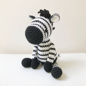 "AMIGURUMI PATTERN/ tutorial (English) Amigurumi Zebra ""Zoe the Stripy Zebra"" pdf - US terminology"