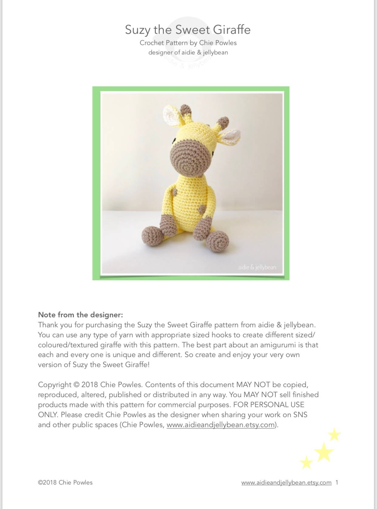 Dotted Crochet Giraffe Toy [FREE Crochet Pattern + Video Tutorial] | 1677x1242