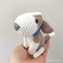 "Load image into Gallery viewer, AMIGURUMI PATTERN/ tutorial (English) Amigurumi Beagle Dog - ""Bailey the Beagle Puppy"" pdf - US terminology"