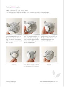 "AMIGURUMI PATTERN/ tutorial (English) Amigurumi Owl - ""Olivia the Little Owl"" pdf - US terminology"