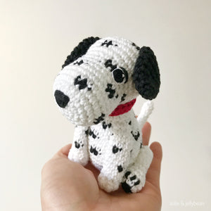 "AMIGURUMI PATTERN/ tutorial (English) Amigurumi Dalmatian Dog - ""Dusty the Dalmatian Puppy"" pdf - US terminology"