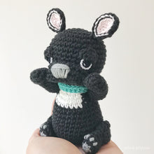 "Load image into Gallery viewer, AMIGURUMI PATTERN/ tutorial (English) Amigurumi French Bulldog - ""Frankie the French Bulldog Puppy"" pdf - US terminology"