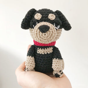 "AMIGURUMI PATTERN/ tutorial (English) Amigurumi Rottweiler Dog - ""Rex the Rottweiler Puppy"" pdf - US terminology"