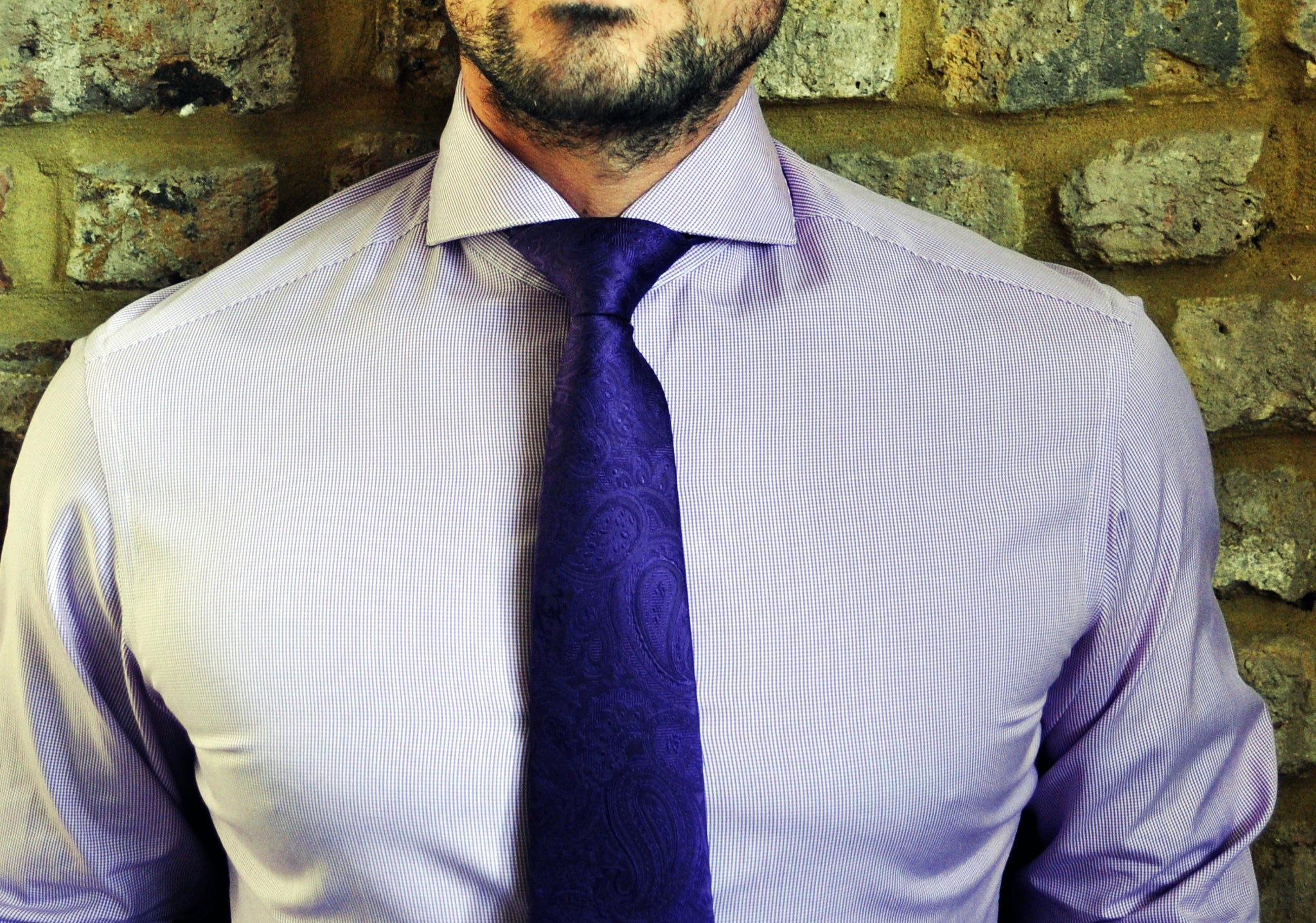 What tie knot to use hawkins shepherd for Wide spread collar shirt