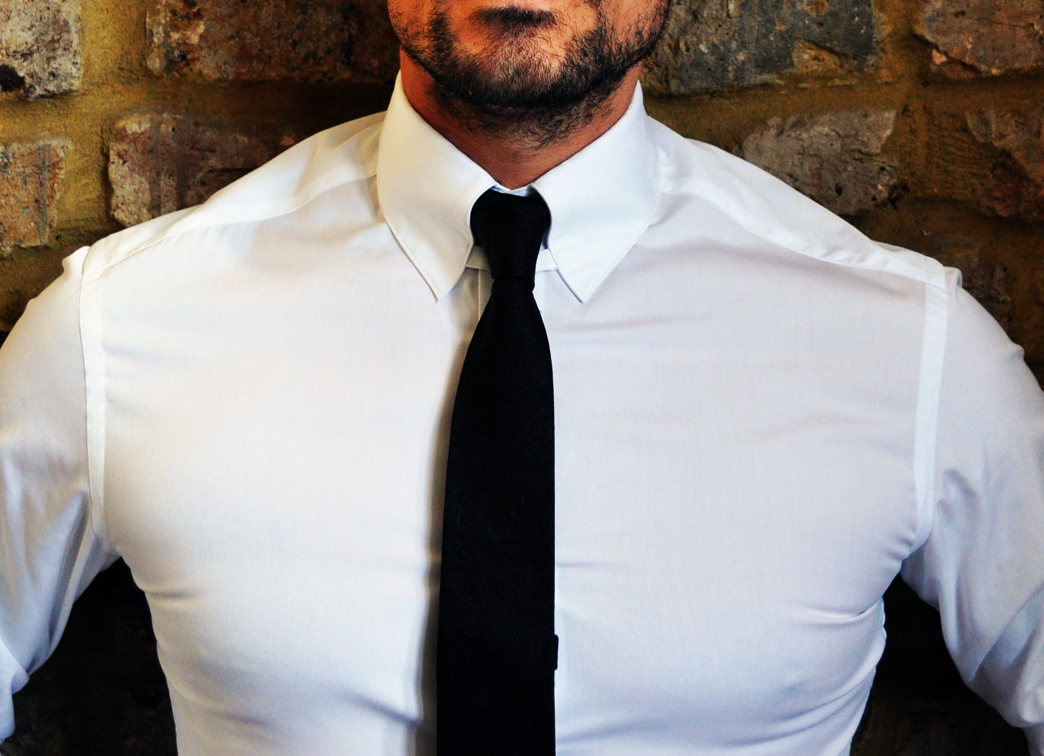 How to collar tie wear pin images