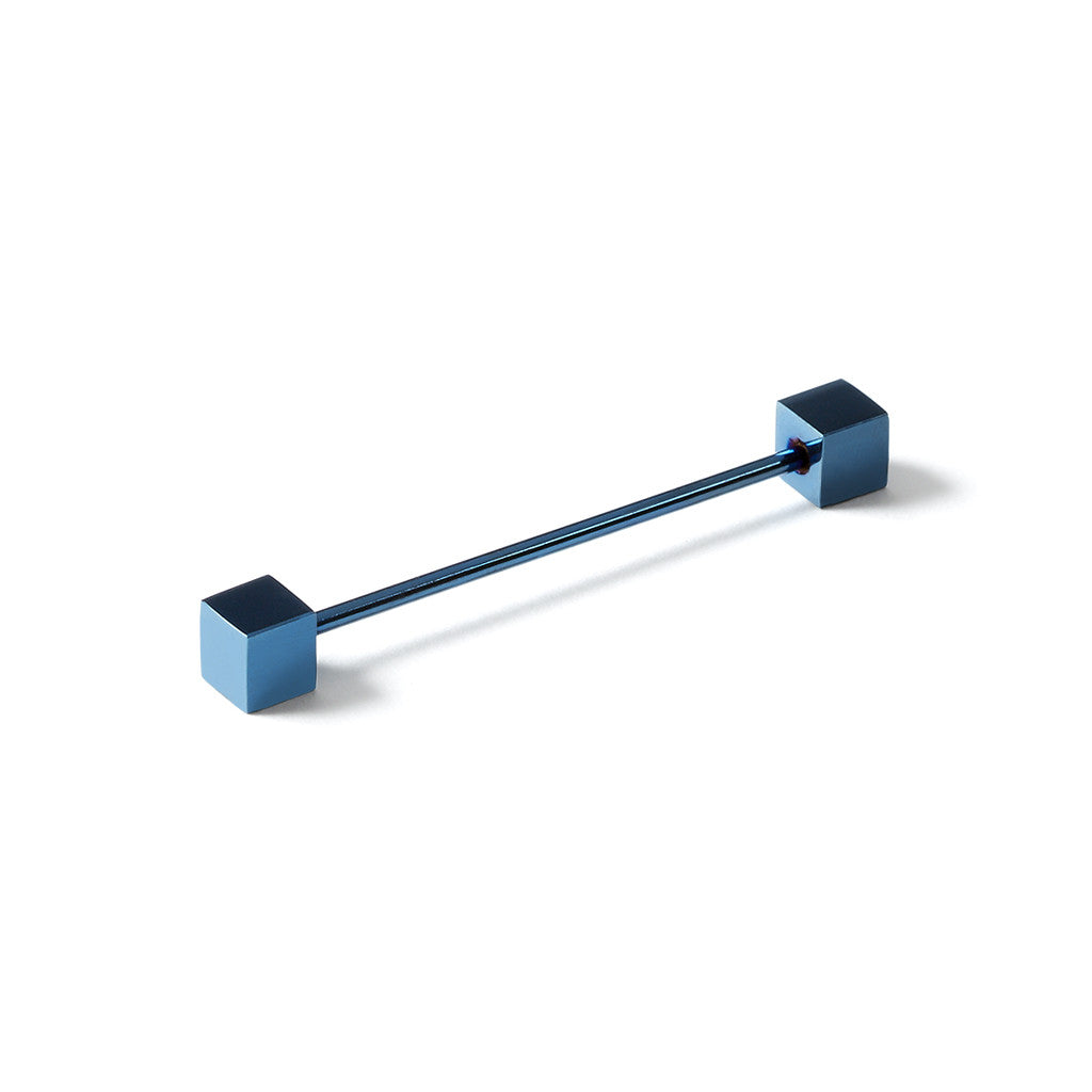 Collar Pin Bar Blue Square