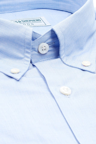 Soft Luxury Blue Pastel Button-Down Shirt