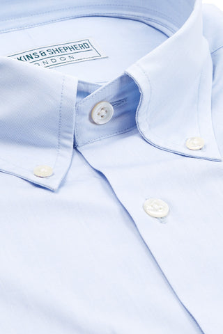 Soft Luxury Light Blue Pastel Button-Down Shirt