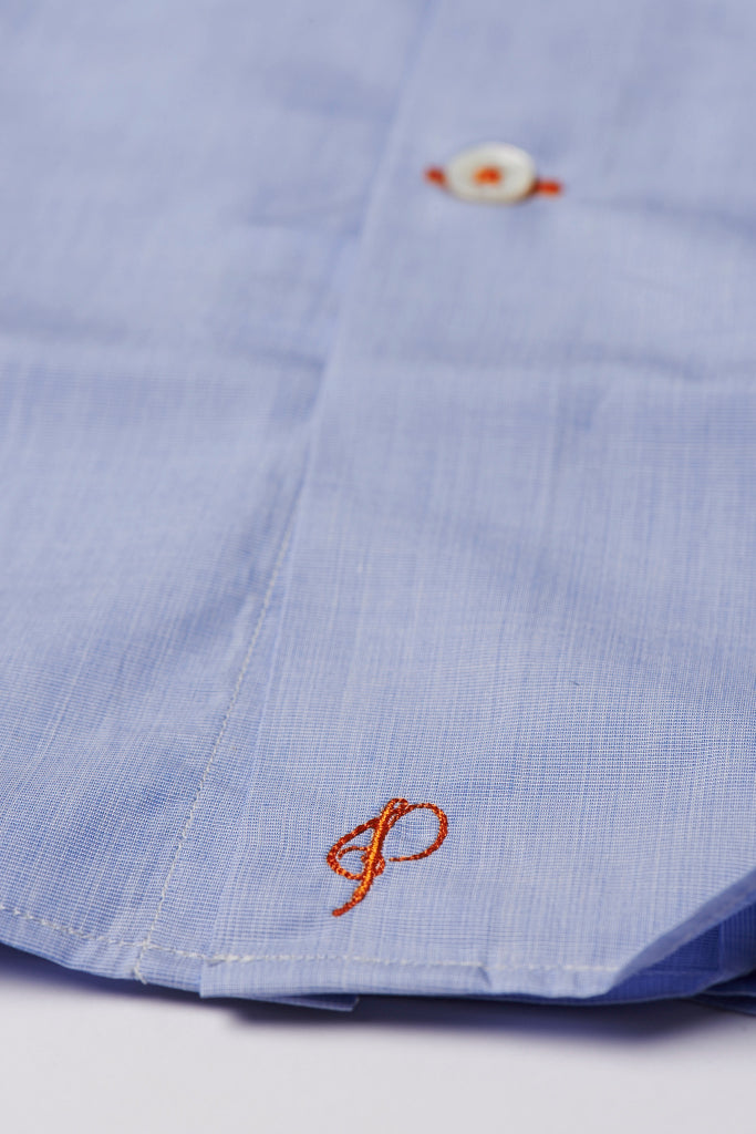 Mens Shirt Hem Embroidery