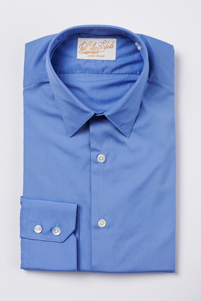 Mens Blue Formal Business Shirt 270 Collar