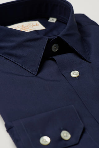 Mens Navy Formal Business Shirt 270 Collar