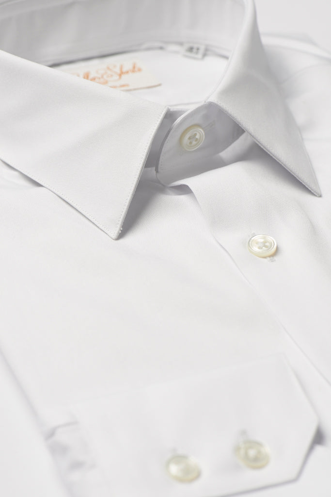 Mens White Formal Business Shirt 270 Collar