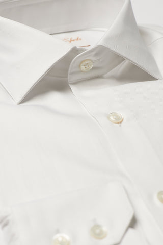 Mens White Formal Business Shirt 180 Collar