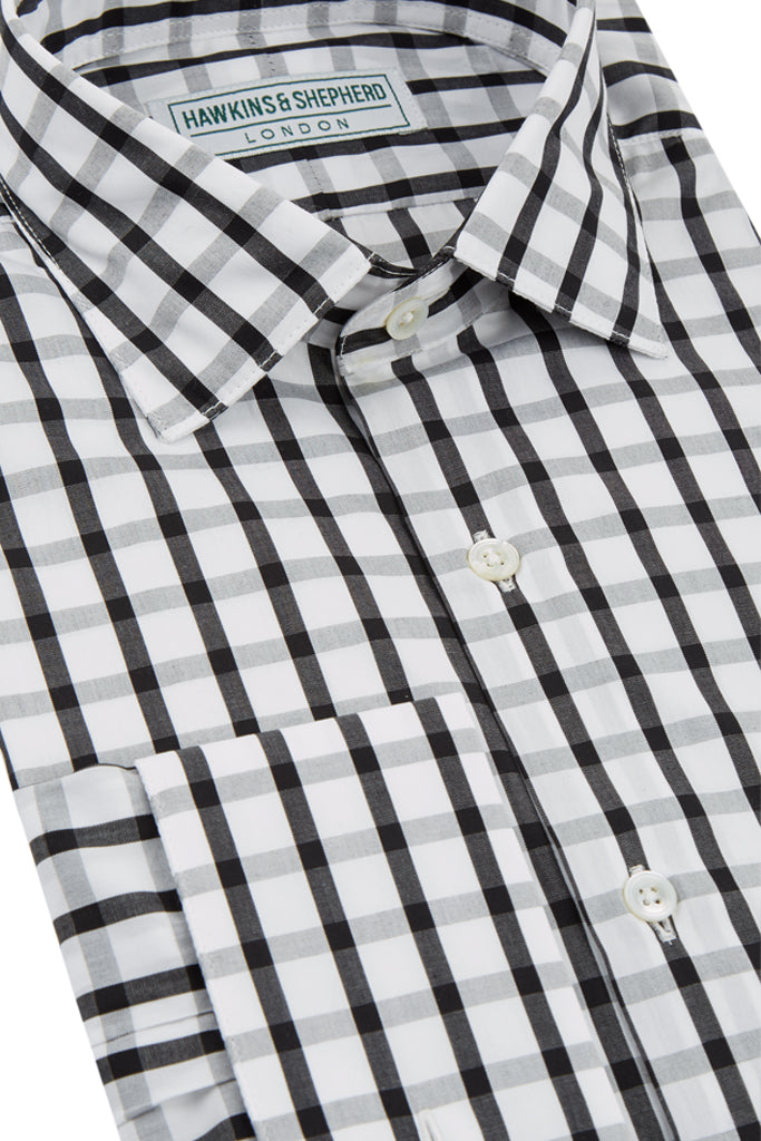 Black White Check Shirt