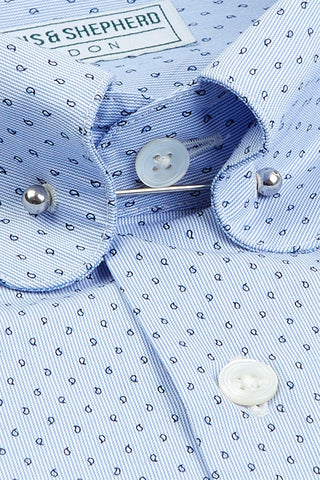 Men's Printed Pin Collar Shirts