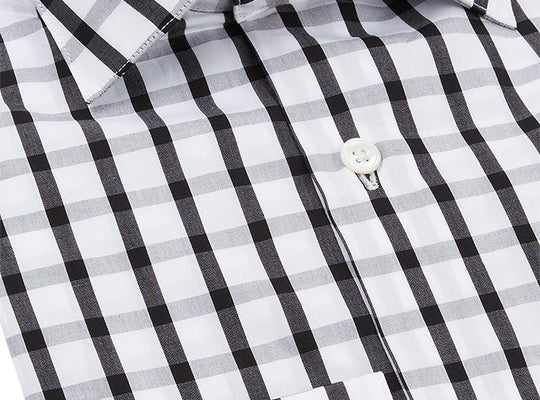 Mens Black Check Shirt
