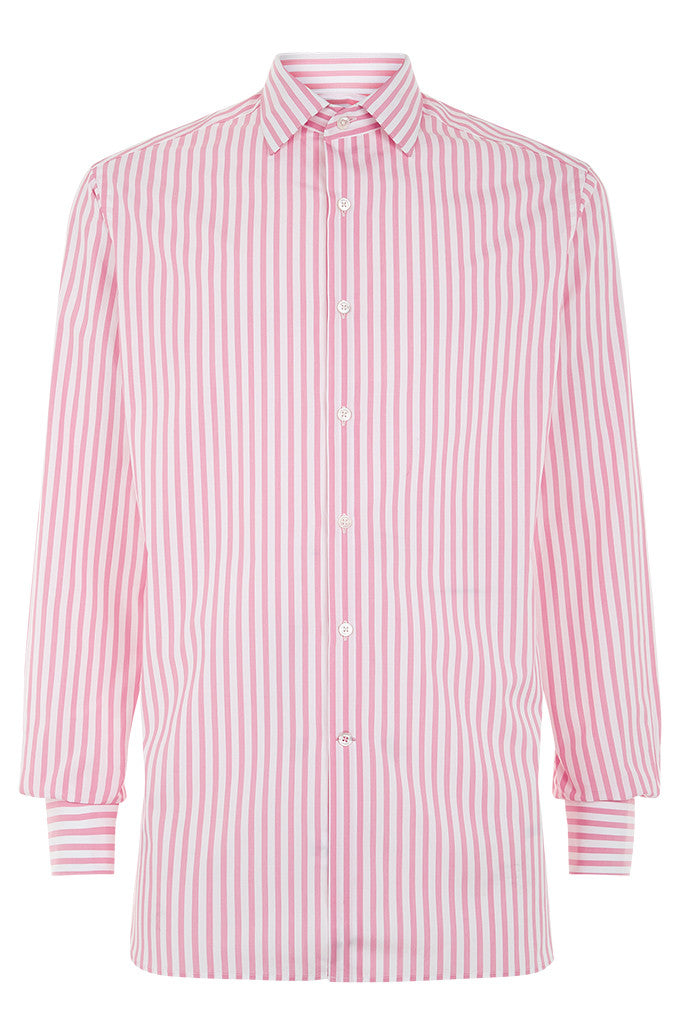 Men's Bold Pink Stripe Formal Shirt
