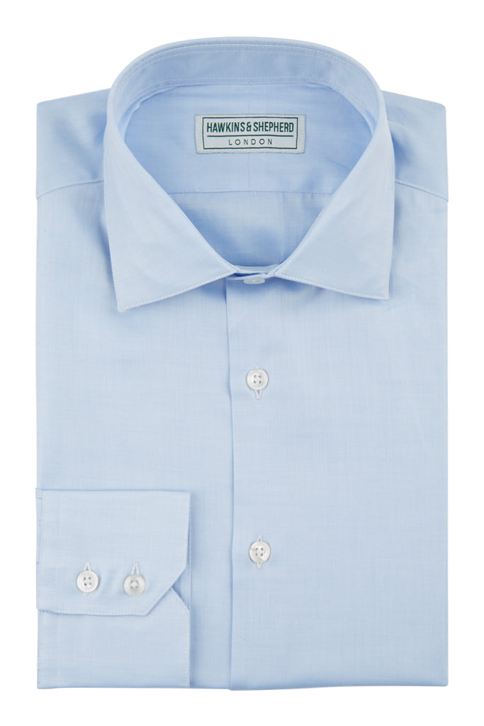 Hawkins & Shepherd Blue Luxury Soyella Duecento Shirt