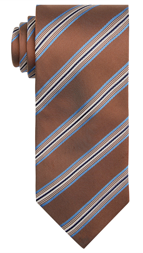 Brown Jacquard Stripe Tie