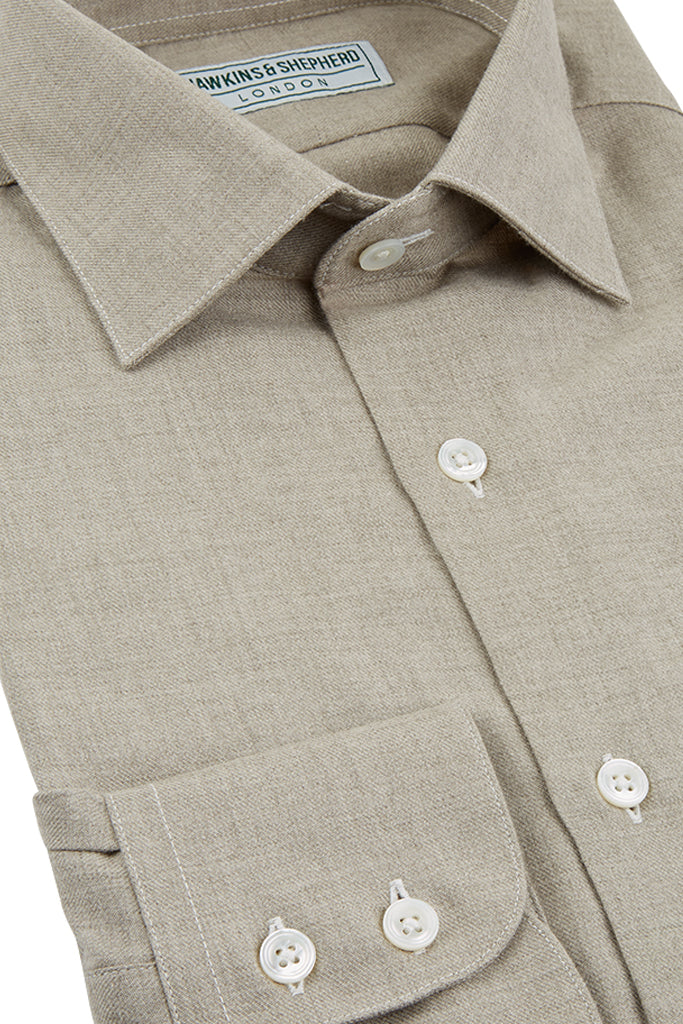 Hawkins & Shepherd Light Brown Luxury Cashmerello Shirt