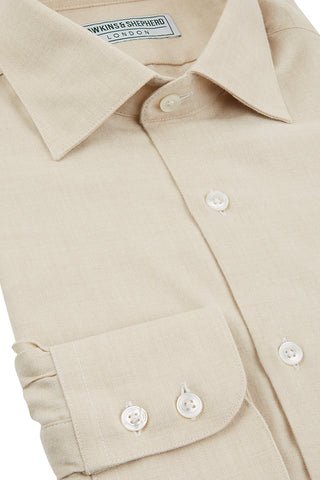 Hawkins & Shepherd Camel Luxury Cashmerello Shirt